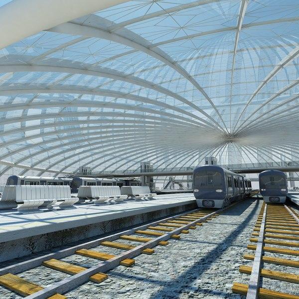 3d train station 2
