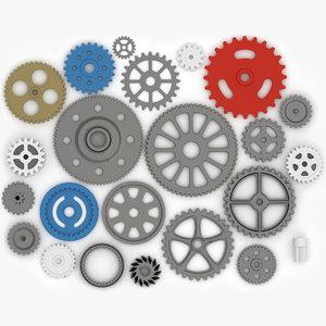 3d gear wheels model