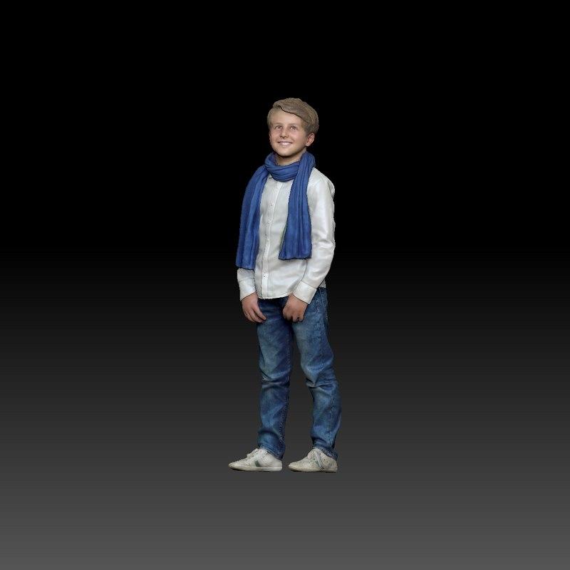 scan boy 3d model
