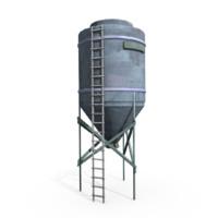 Water tank lowpoly 3