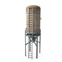 Water tank lowpoly 4
