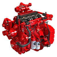 3d model cummins engine off-highway agriculture
