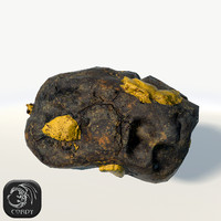 Ore yellow low poly