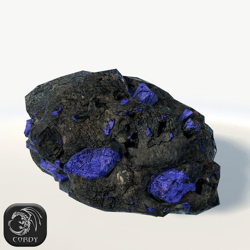 ore blue 3d model