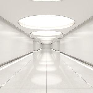 hallway realistic 3d model