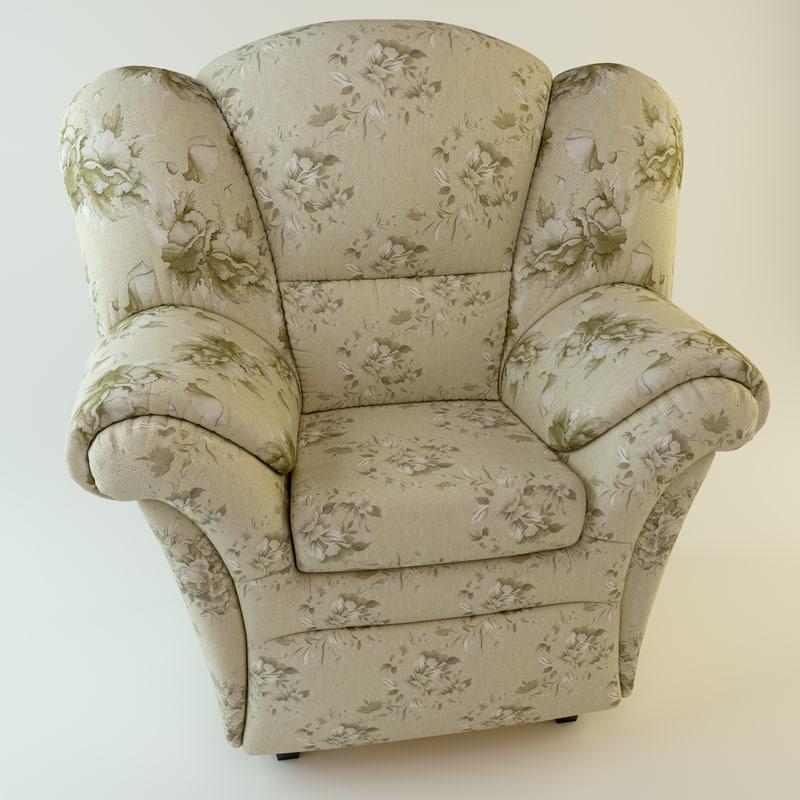 3d obj chair armchair