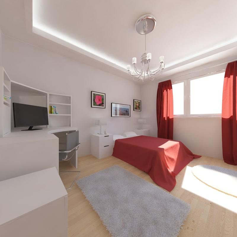 3d max bedroom 01