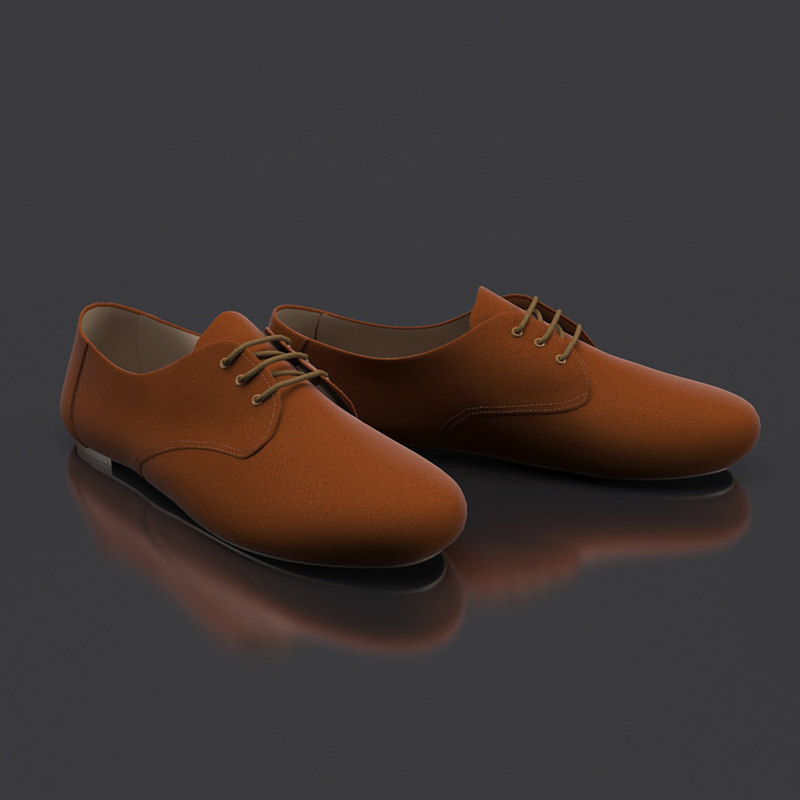 3d women s shoes model