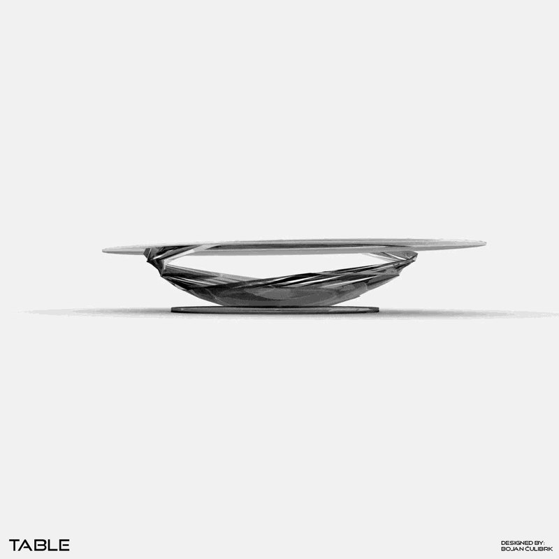 obj spiral table set