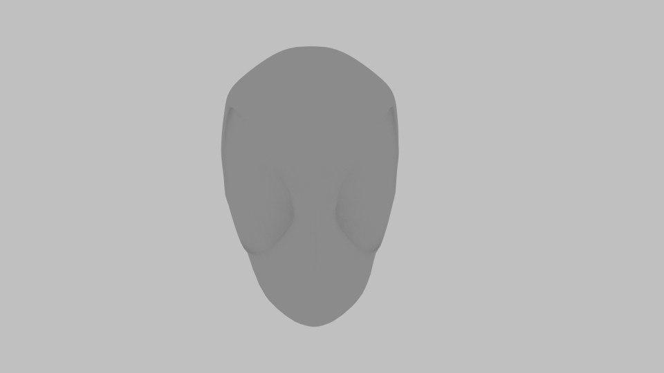 free deadpool base head 3d model