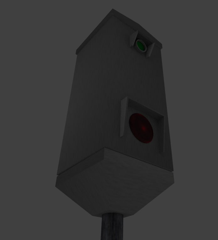 3d scandinavian speeding camera model