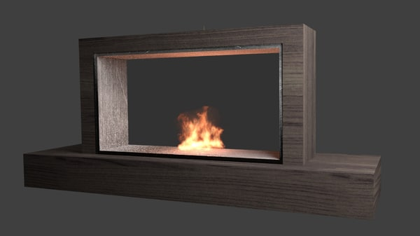 blender fireplace animation 3d model