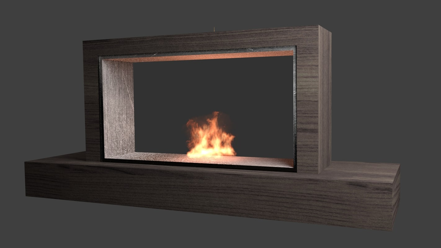 fireplace animation 3d model