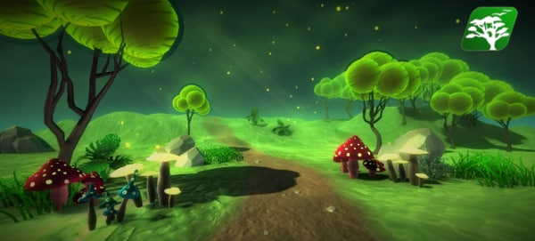 free glowing mushroom 3d model
