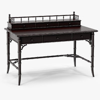 3d century faux-bamboo black desk furniture model