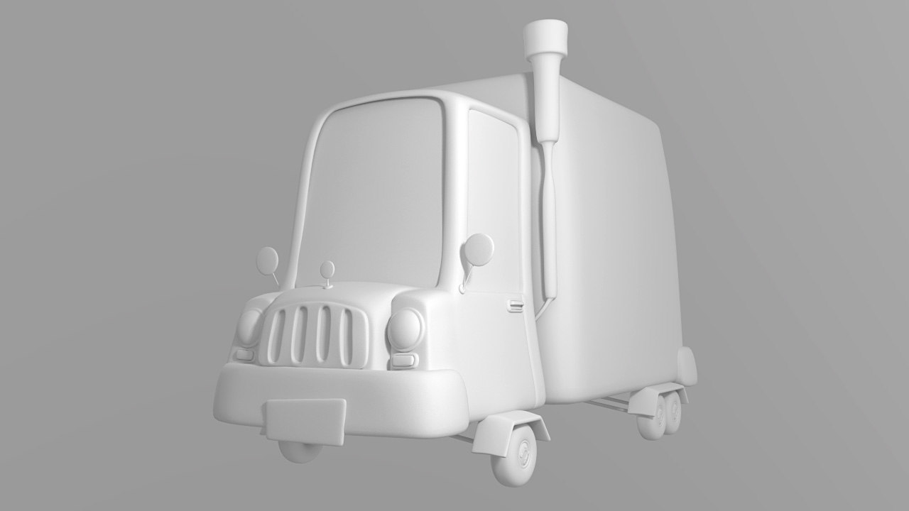 lwo truck cartoon