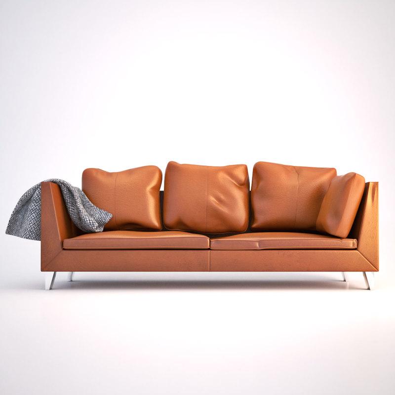 realistic ikea stockholm sofa design 3d model