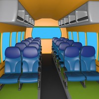 Cartoon Coach Cabin
