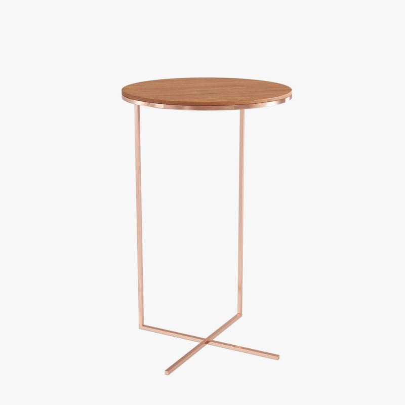 design pedestal tables x 3d max