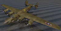 consolidated b-24d liberator 3ds