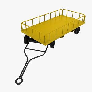 3d model gw-ae06 baggage cart