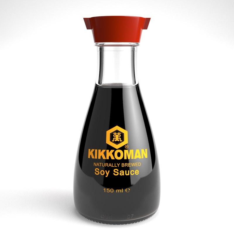 3d max kikkoman soy sauce