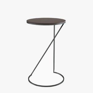 3d model majordome pedestal table o
