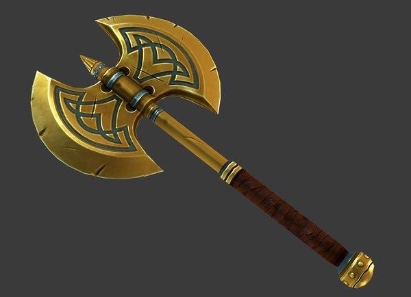 3d model fantasy axe -