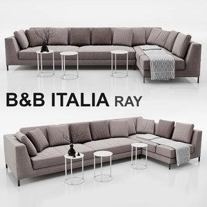 sofa b italia 3d max
