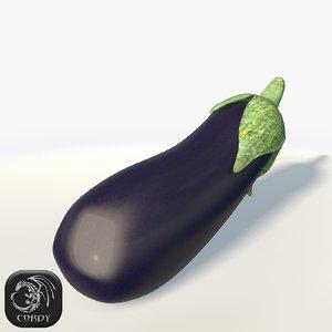 3d model eggplant lods