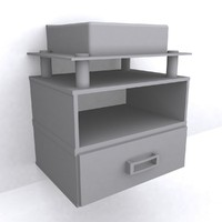 3d bathroom cabinet