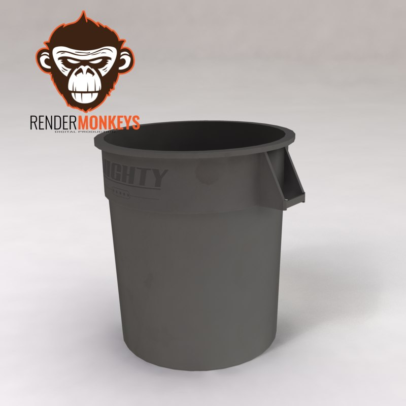 3d industrial trash model