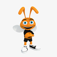 bee cartoon character rigged max