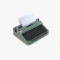 3d olympia typewriter