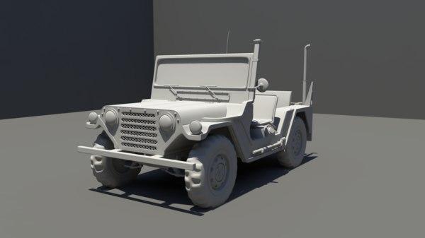 3d model m151 jeep