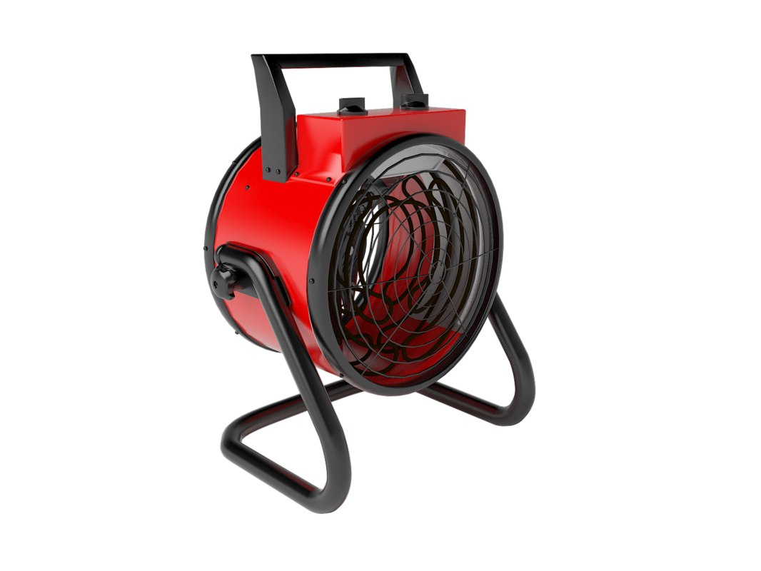 3d model electric heater