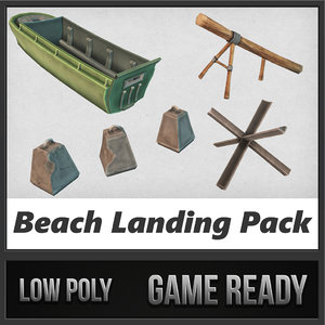 beach landing pack transport 3d 3ds