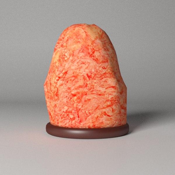 3d salt lamp model