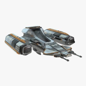 3d sci-fi jet model