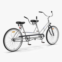 Bicycle Built for Two 3D Model