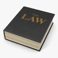 law book 3d model