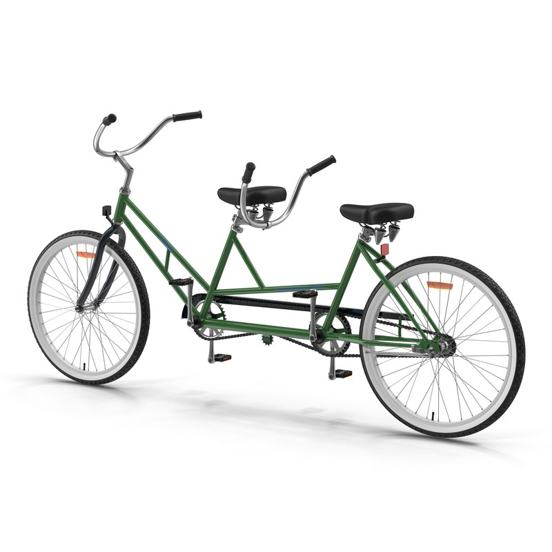 3d model of retro bicycle built