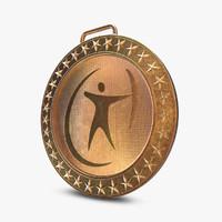 medal sport 3d model