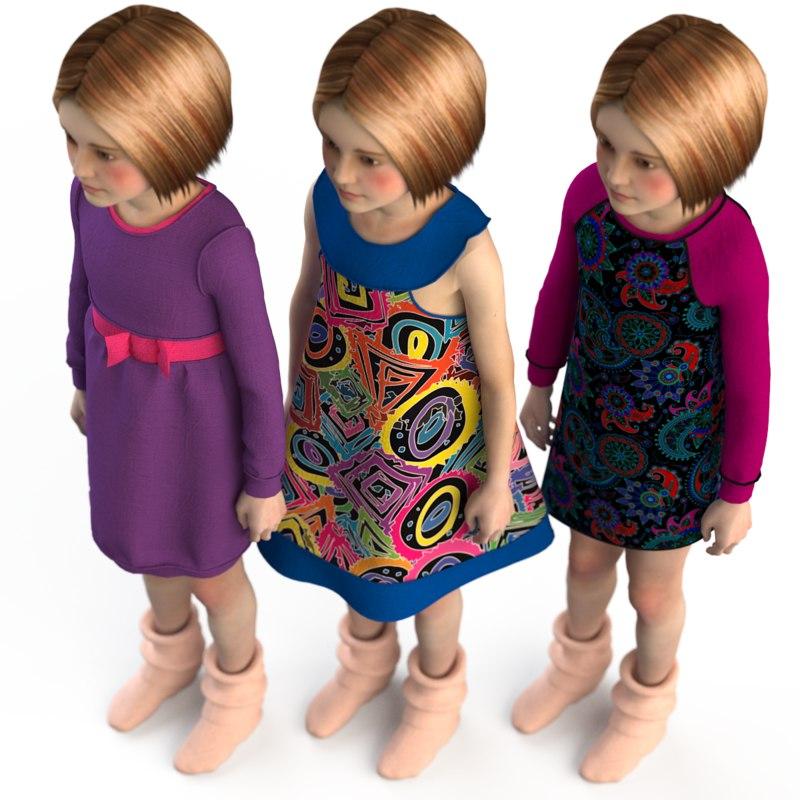 fashion dressed 3d model