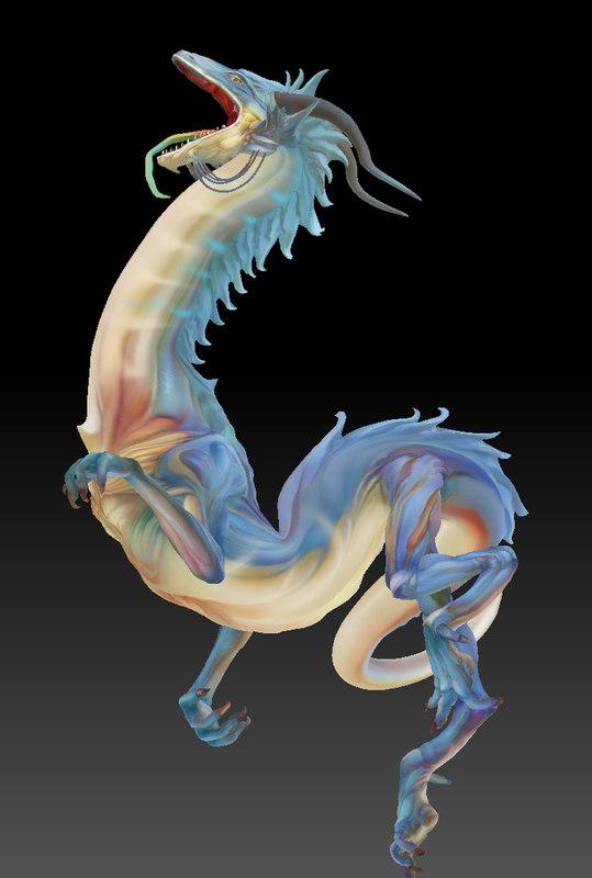 3d model dragon china
