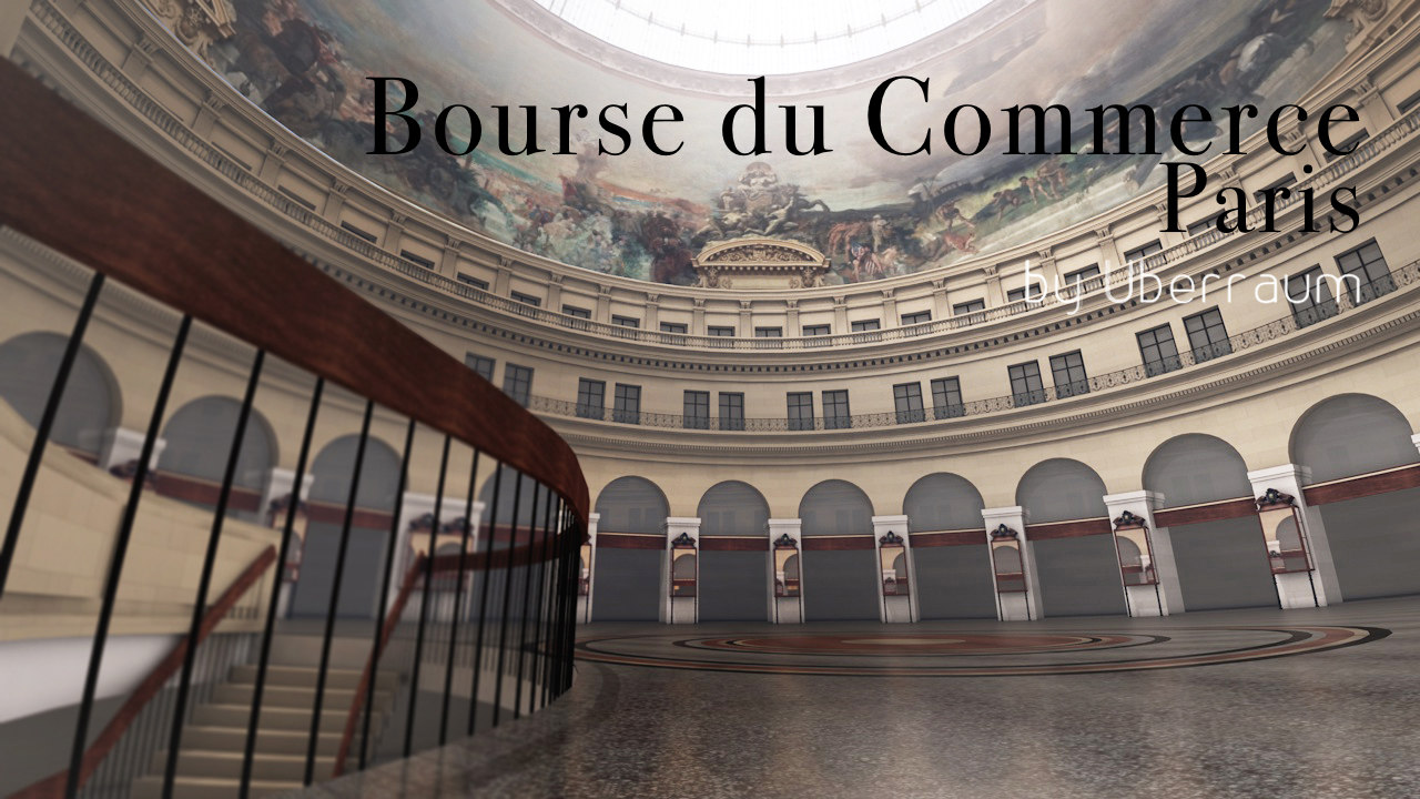 bourse du commerce paris 3d model