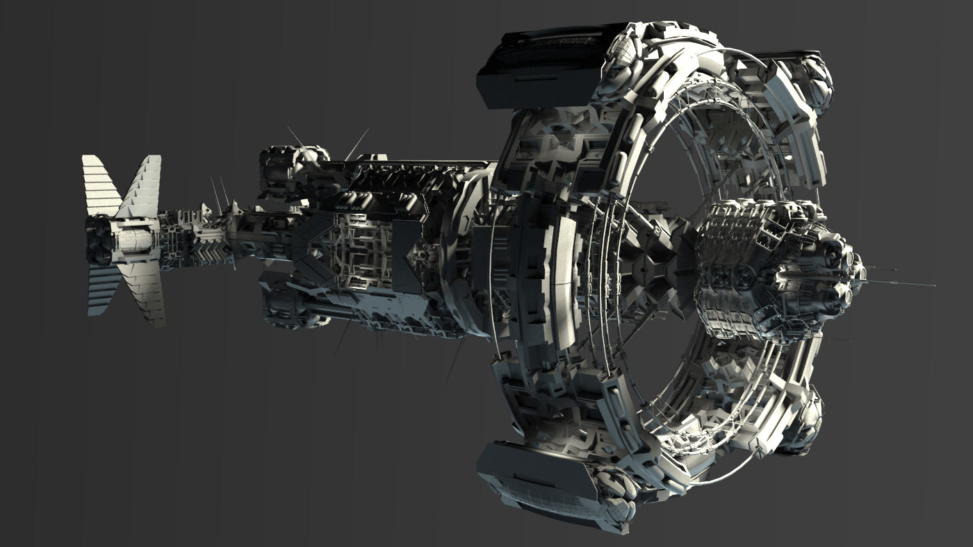 3d model space vessel ship