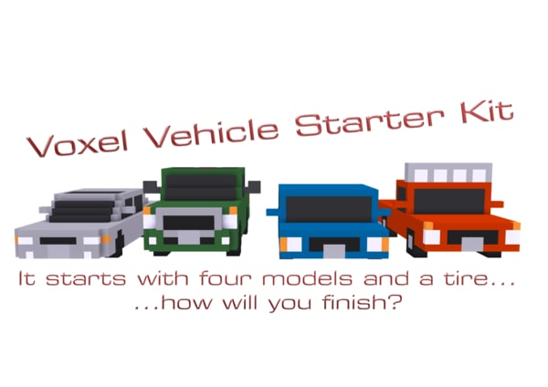 voxel vehicles starter kit obj free