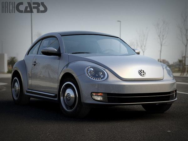 3d volkswagen beetle model
