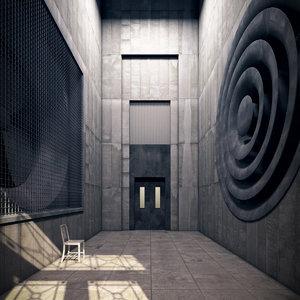 3d hallway realistic